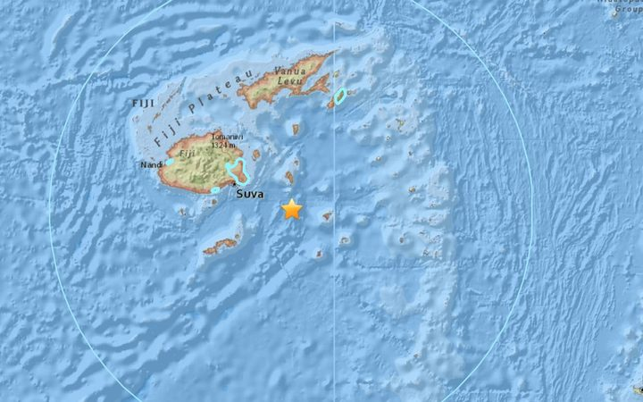 A magnitude 7.8 earthquake has hit 101km east-southeast of Suva, Fiji, at a depth of 608 km, the US Geological Survey says.