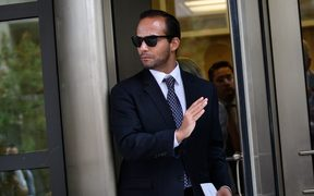 George Papadopoulos leaves the US District Courts after his sentencing in Washington, DC
