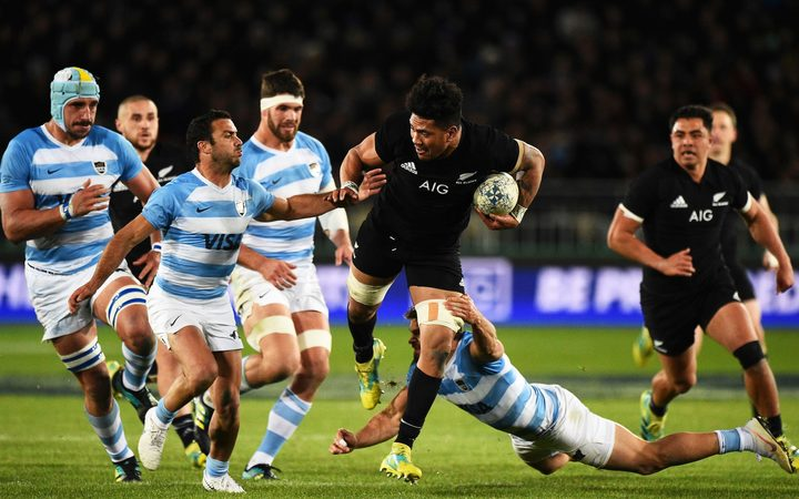 All Black Ardie Savea during their Rugby Championship test match Argentina v All Blacks.