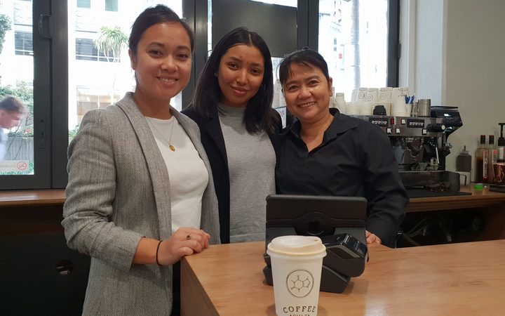 Rotdany Pal (left), who runs family business Coffee Cult with her mum