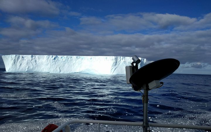 Likely super cloud spotted over iceberg in the Southern Ocean