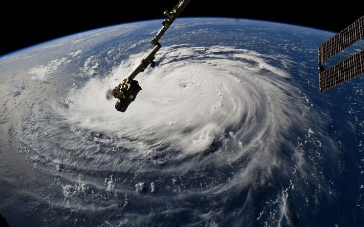Hurricane Florence seen from the International Space Station, 10 September.