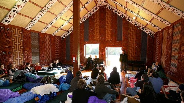 Cultural difference no excuse - journalism students on  Waititi marae in Glen Eden.