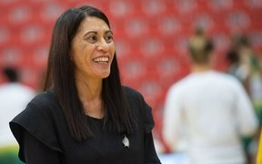Noeline Taurua celebrates her first win Silver Ferns head coach