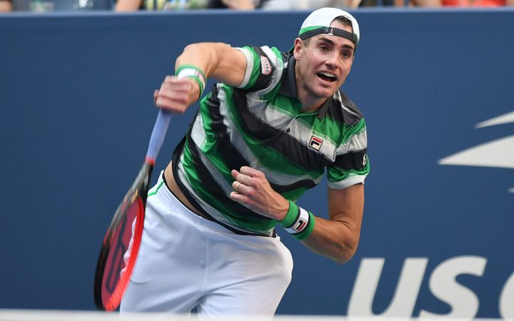 Two time ASB Classic Winner John Isner at this year's U.S. Open.