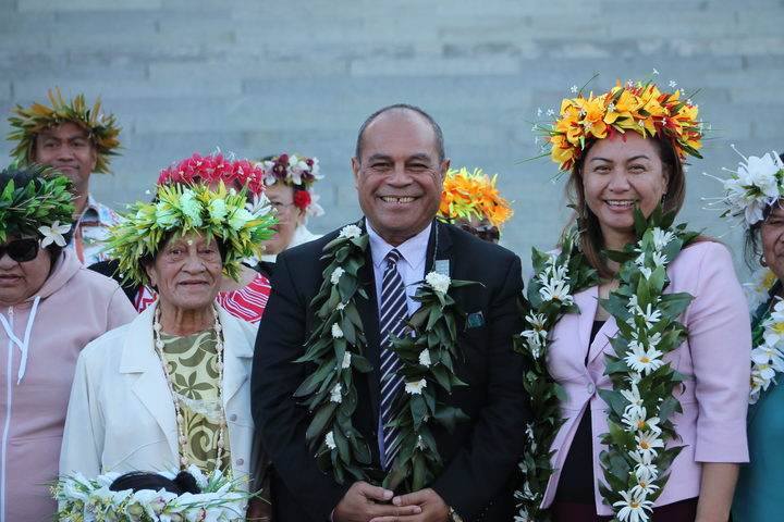 Minister for Pacific Peoples Aupito William Sio, and Green Party co-leader Marama Davidson (right).