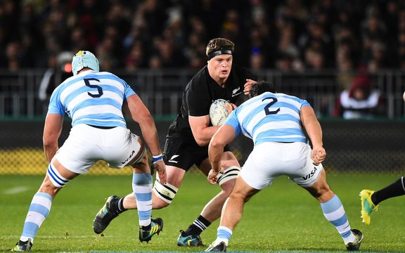 All Black Scott Barrett during their Rugby Championship test match Argentina 2018.