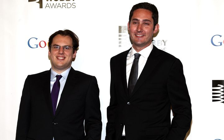 Instagram co-founders Kevin Systrom and Mike Krieger in 2012.