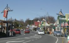 The main street (State Highway 49) in Ohakune.