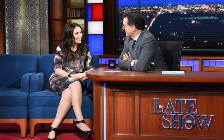 PM Jacinda Ardern on The Late Show with Stephen Colbert
