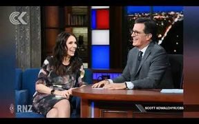 Jacinda Ardern makes audience laugh on Stephen Colbert's show: RNZ Checkpoint
