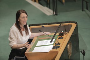 Prime Minister Jacinda Ardern speaks at the UN