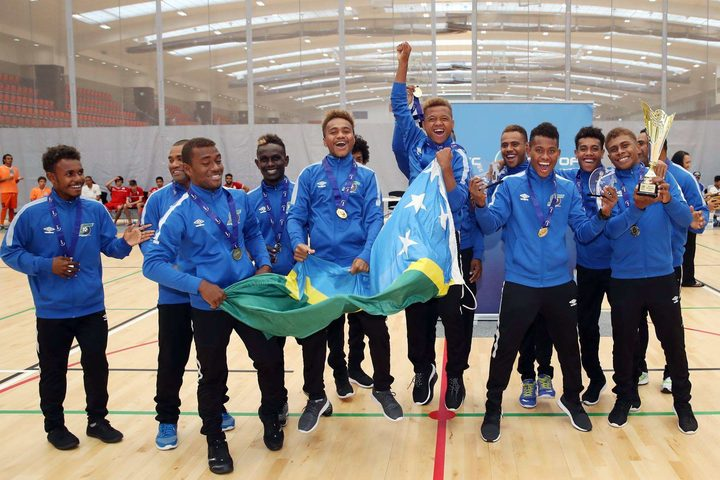 Solomon Islands went unbeaten at the OFC Youth Futsal Tournament in 2017.