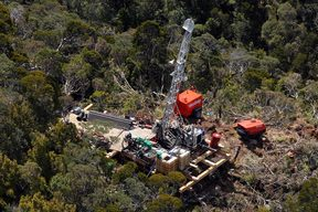 The second drilling platform at the Pike River Mine near Greymouth.