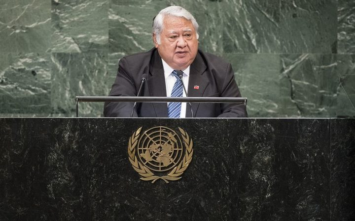 Tuilaepa Sailele Malielegaoi addresses the UN General Assembly in New York