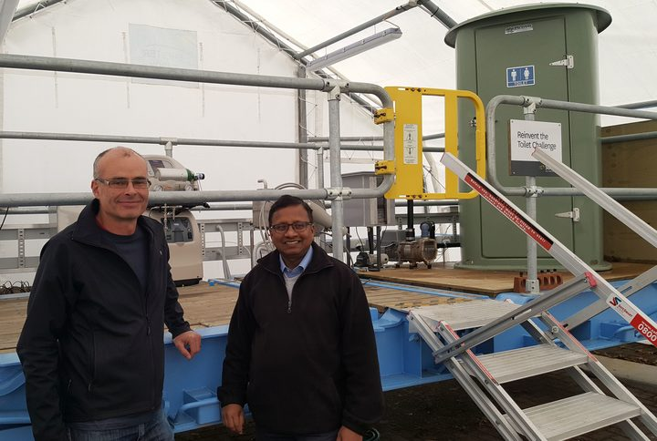 Daniel Gapes has been working on a compact, low-energy way of breaking down human waste using heat and pressure. And microbiologist Suren Wijeyekoon is using the resulting waste and microbes to make bioplastic.