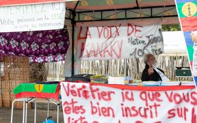 Campaigning for New Caledonia's referendum on independence from France