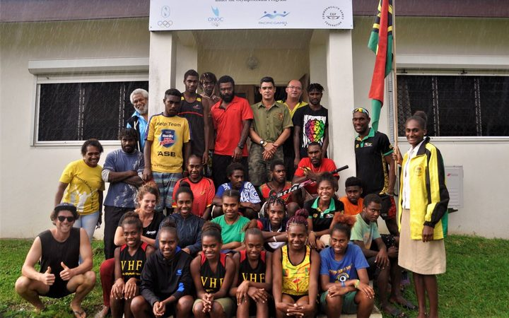 Vanuatu's Youth Olympic team before departing to Buenos Aires