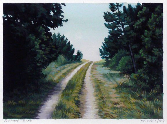Country Road, gouache on paper, 2014