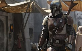 The first official picture from new Star Wars TV show The Mandalorian.
