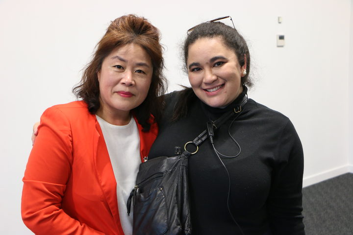 Korean NZ Cultural Association's Hye Won Diane Lee with K-Pop event coordinator, Trezanah MacCauley
