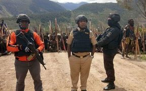 Indonesian police have been assisting military in a campaign against independence fighters in West Papua's Puncak Jaya regency.