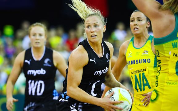 Silver Ferns captain Laura Langman