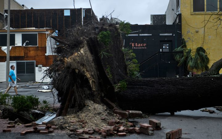 Storm damage is seen after Hurricane Michael in Panama City, Florida.