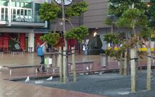 Queen Elizabeth Square in downtown Auckland.