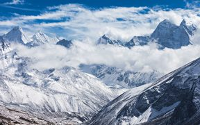 Mountains in Everest region, Himalaya, east Nepal