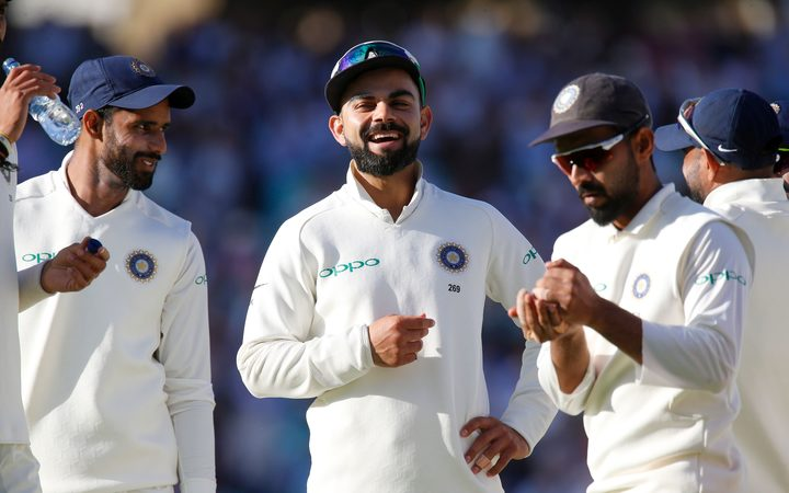 India cricket captain Virat Kohli and team-mates.