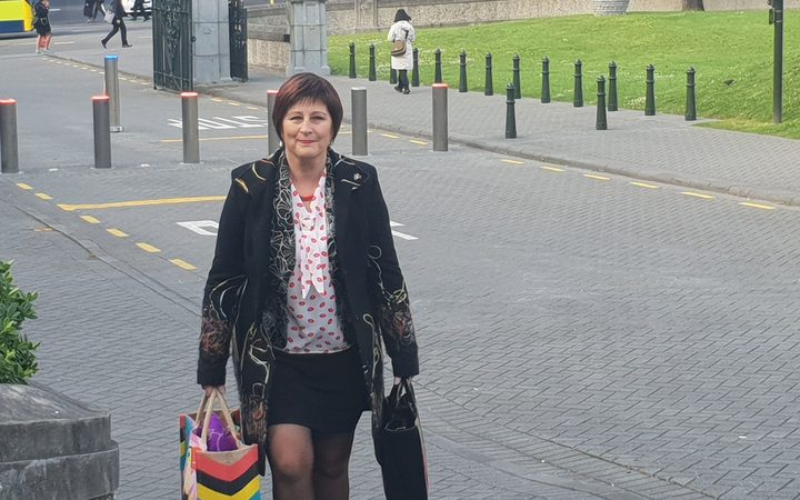 National list MP Maureen Pugh arriving at Parliament where her party's caucus is meeting to discuss the Jami-Lee Ross controversy.