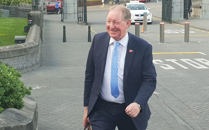 National MP Nick Smith arriving at Parliament where National's caucus will meet to discuss Jami-Lee Ross controversy.