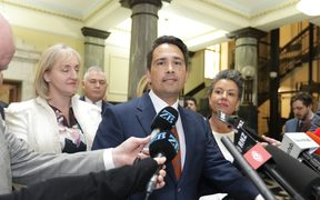 Simon Bridges addresses media