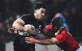 Nehe Milner-Skudder playing for the Maori All Blacks against the British and Irish Lions in Rotorua last year.