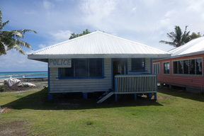 Police station in Nukunonu, Tokelau.