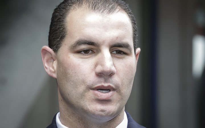 Jami-Lee Ross speaks to media after making a complaint to police about National Party leader, Simon Bridges.