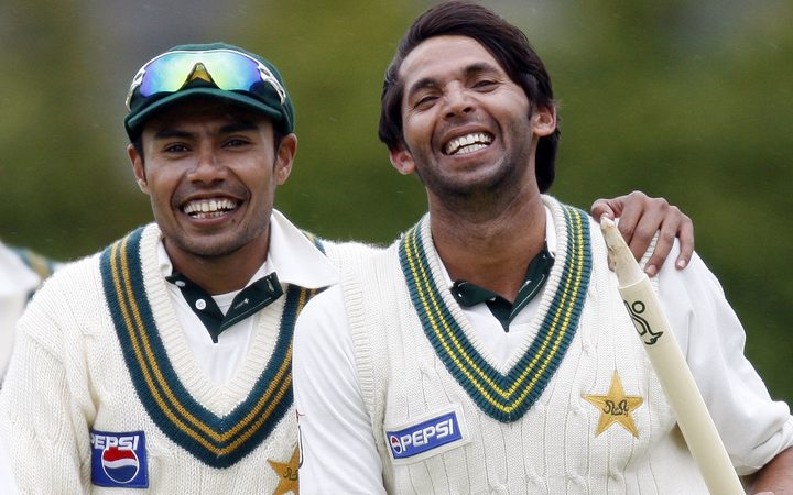 Danish Kaniera (left) has admitted to match fixing six years ago in English county cricket.  Mohammad Asif (right) was banned for five five-years between 2010 and 2015 fr spot fixing in a test match.
