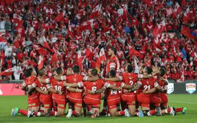 A stirring Sipi Tau from the Tongan team.