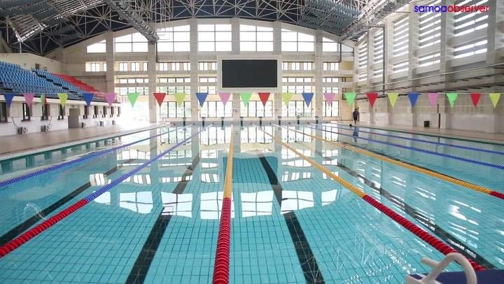 The swimming venues is being refurbished for the 2019 Pacific Games in Samoa.