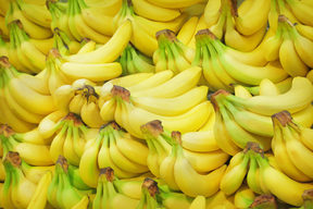 Pile of bananas on a market