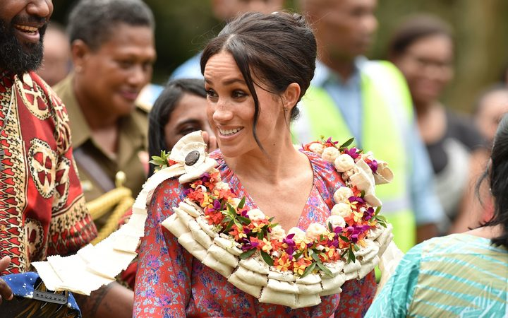 Meghan, Duchess of Sussex, at the University of the South Pacific in Suva.