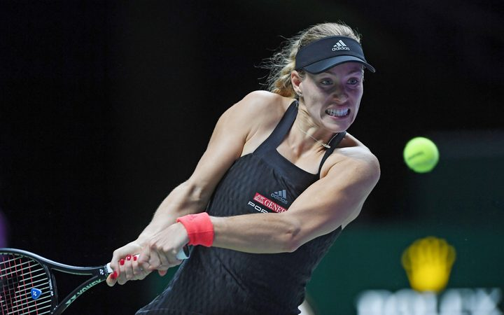 Kerber defeats Osaka in Singapore
