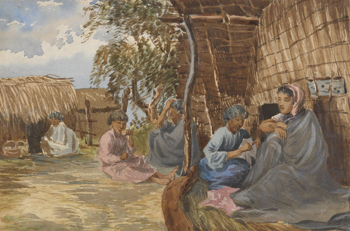 Robley painted many intimate scenes of life inside Māori society.