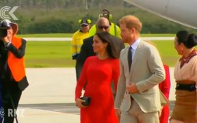 Duke and Duchess of Sussex arrive in Tonga