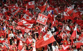 Fans during Tonga v Australia rugby league test match