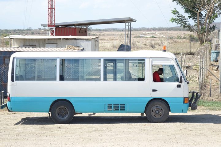 A public motor vehicle, or bus, in Papua new Guinea's Central Province.