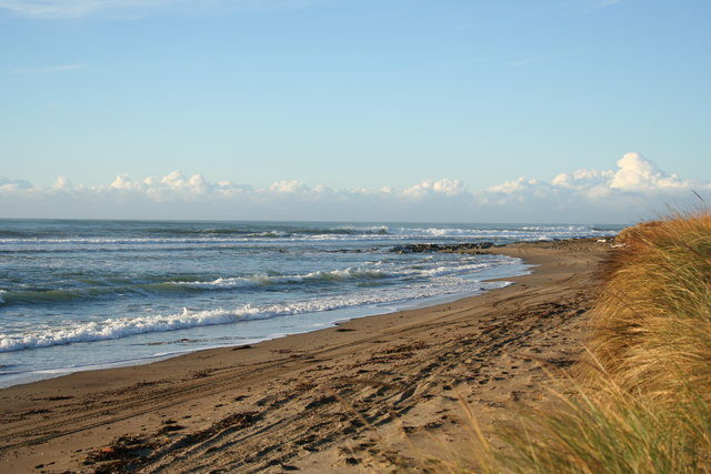 Riversdale Beach is 40 kilometres east of Masterton and known for its year-round surf.