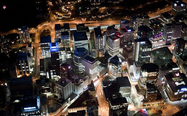 Wellington CBD by night.