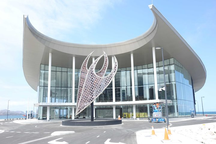 The newly built APEC Haus in Papua New Guinea's capital Port Moresby which is to host the 2018 APEC Leaders Summit in mid-November.